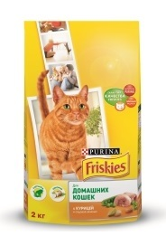 Сухой корм Friskies Indoor для кошек живущих в помещении. Курица с садовой травой