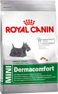 Сухой корм Royal Canin Mini Dermacomfort 26 для собак мелких пород, склонных к кожным раздражениям и зуду